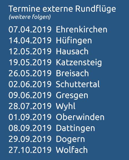 Heli-Breisgau Rundflugtermine 2019